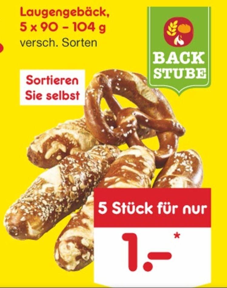 5x Laugengebäck nach Wahl für 1€ [Netto ab 15.07.]