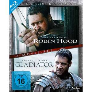 [Amazon] Robin Hood / Gladiator (Director's Cut / Extended Edition, 2 Discs) [Blu-ray] - 9.97€