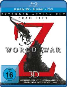 World War Z - Extended Action Cut 3D (Blu-ray 3D + Blu-ray + DVD) für 6,57€ (Amazon Prime)