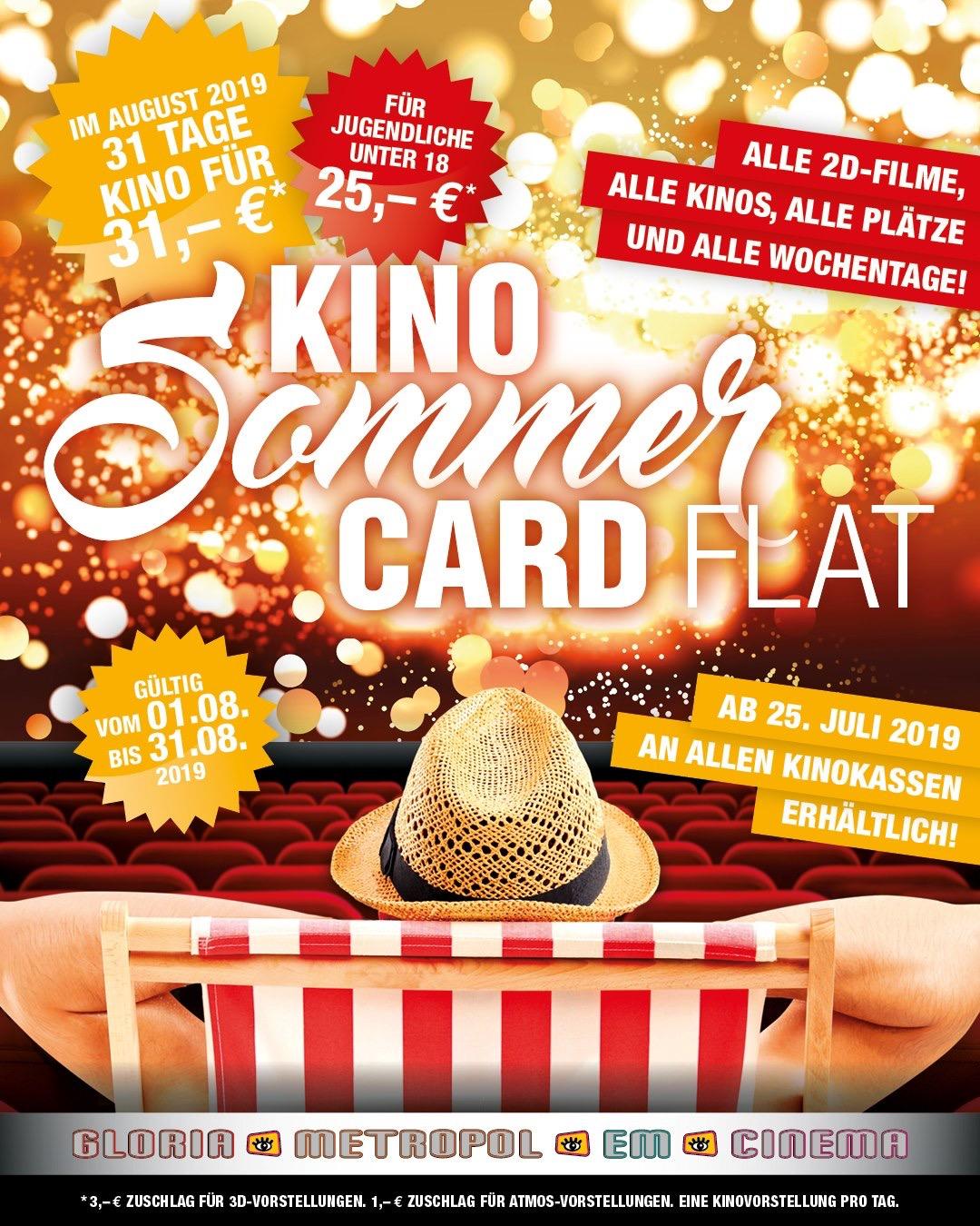 [LOKAL] Innenstadtkinos Stuttgart - Im August für 31 Euro jeden Tag ins Kino