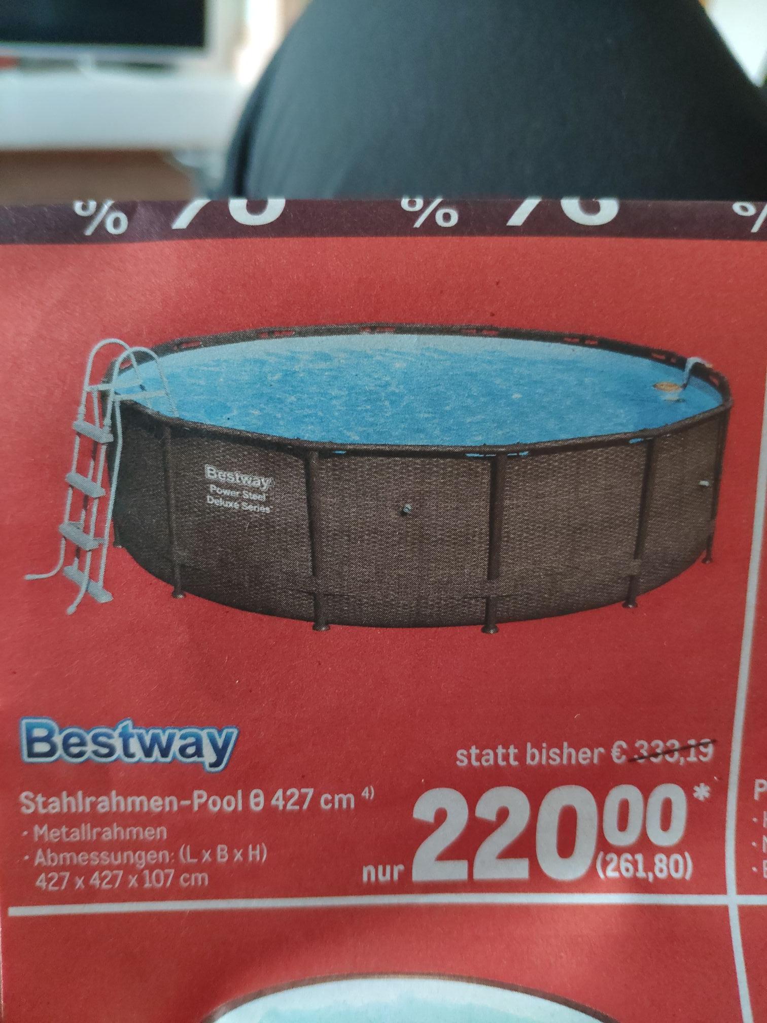 (Offline Metro) Bestway Stahlrahmen-Pool d 427 für 261,80 Euro