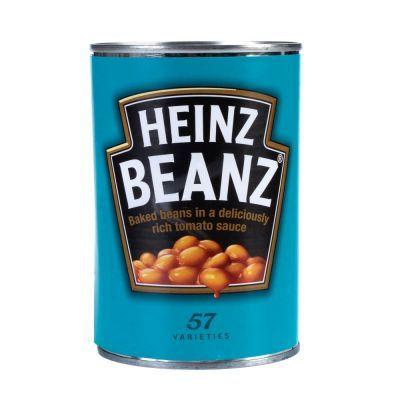 4x415g Heinz Beanz - gebackene weiße Bohnen in Tomatensauce +  Teller GRATIS dazu