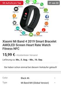 Xiaomi mi band 4 Smartes Armband mit AmoLED Display