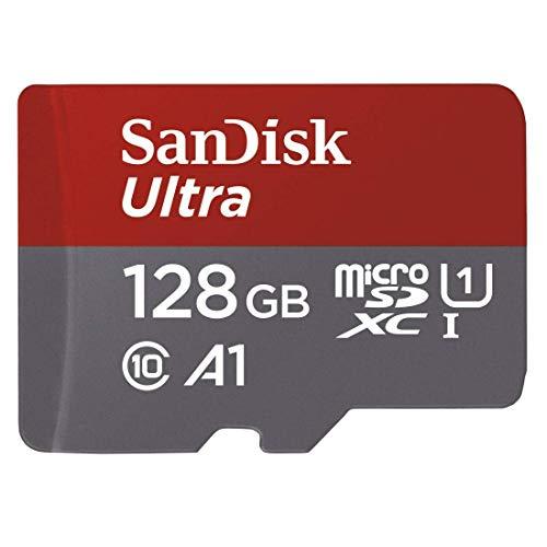 SanDisk Ultra 128GB microSDXC Speicherkarte (max. 100MB/s, Class 10, U1, A1) inkl. SD-Adapter für 14,99€ [Amazon Prime]
