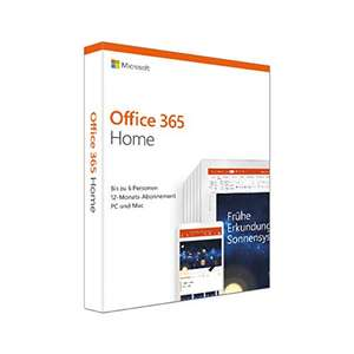 Microsoft Office 365 Home multilingual | 6 Nutzer | 1 Jahresabonnement [Amazon Prime Day]