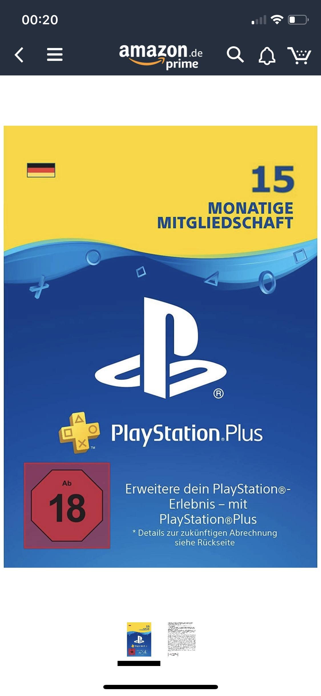 15 Monate PlayStation Network Zugang