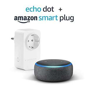 Echo Dot 3 Anthrazit o. Sandstein + Amazon Smart Plug (WLAN-Steckdose) für 29,99€