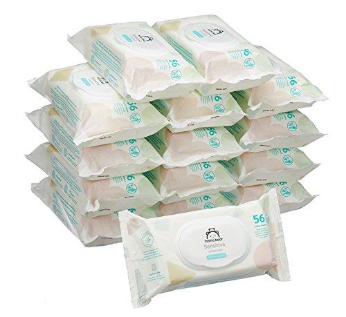 Amazon Marke - Mama Bear Sensitive Baby-Feuchttücher - 15er Packung (840 Tücher) auch andere Sorten