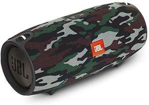 JBL Xtreme Spritzwasserfester Tragbarer Bluetooth Lautsprecher mit 10,000 mAh Akku, Dualem USB-Ladeanschluss Camo [Amazon Prime]