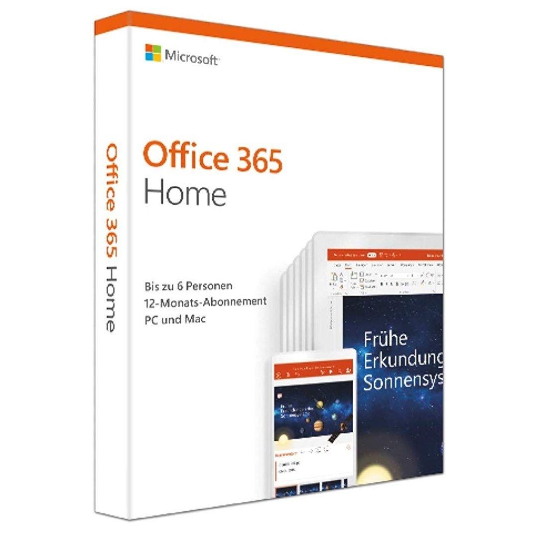 Microsoft Office 365 Home multilingual / 6 Nutzer [0,69€ pro Monat p. P.] / [AMAZON PRIME DAYS]