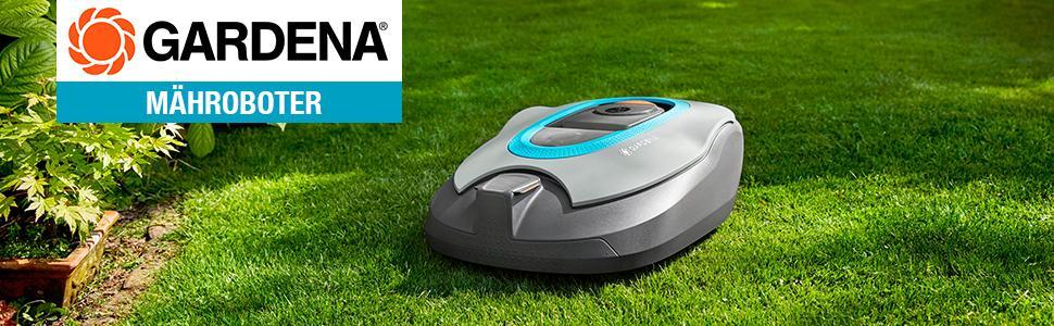 Gardena 471676 Mähroboter R40Li Akkubetriebener Rasenmäher-Roboter Ideal für Gärten, 18 V, schwarz, 400 qm