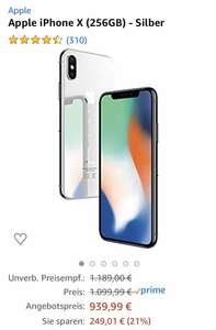 iPhone X 256GB -Silber [Prime Day Angebot]