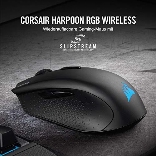 Amazon Prime Day: Corsair Harpoon RGB Kabellose Wiederaufladbare Optisch Gaming-Maus, 10.000DPI Optisch Sensor, RGB