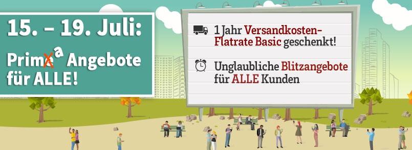 1 Jahr Versandkosten-Flatrate Basic geschenkt! Ab einmalig 59€ Warenwert