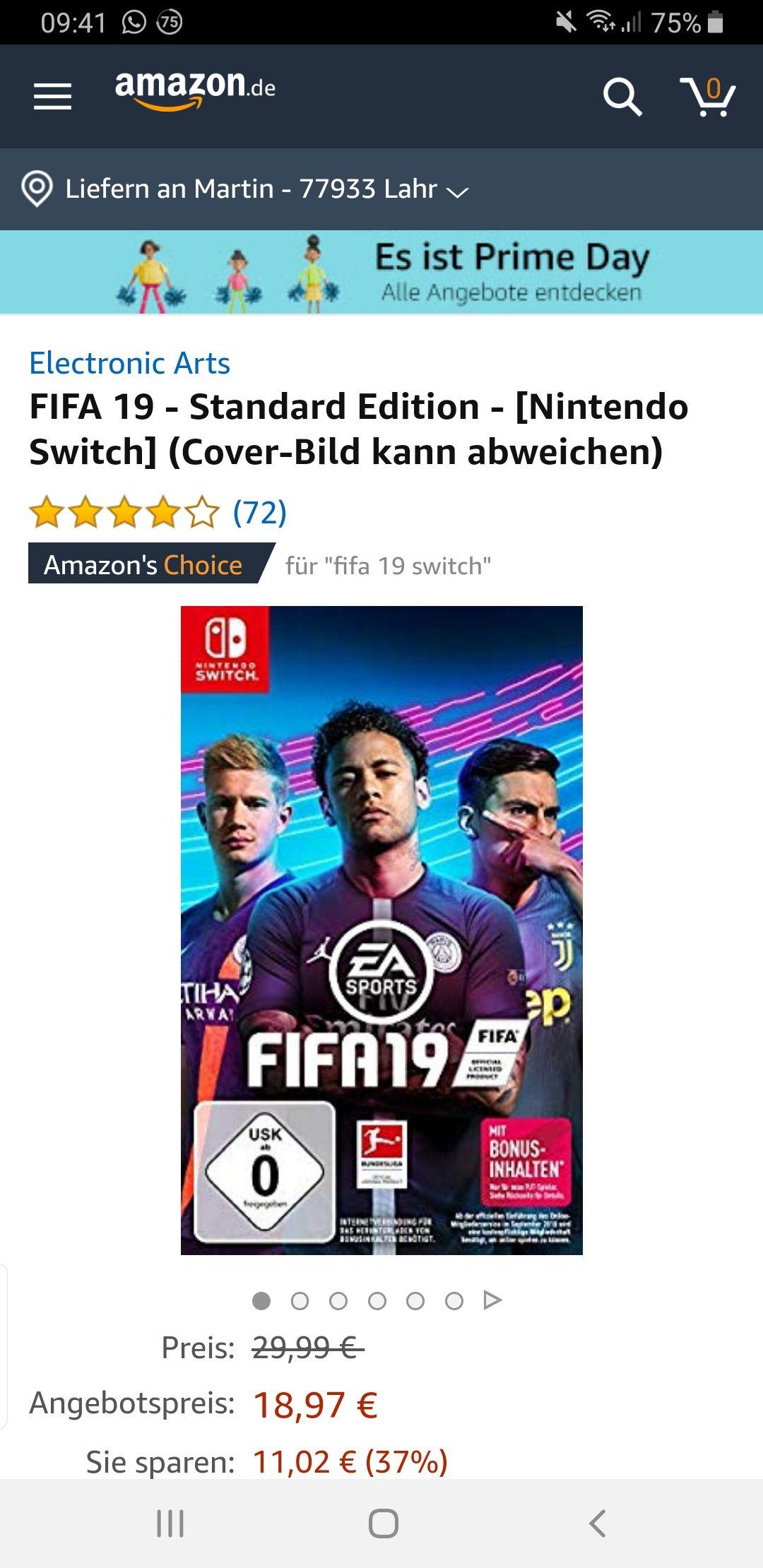 Fifa 19 Standard Nintendo Switch Amazon Prime