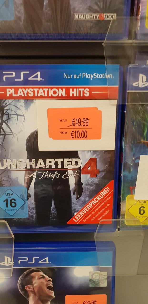 [Smyths Toys Waltersdorf] Uncharted 4 für PS4 oder [Amazon Marketplace] 14,99 €