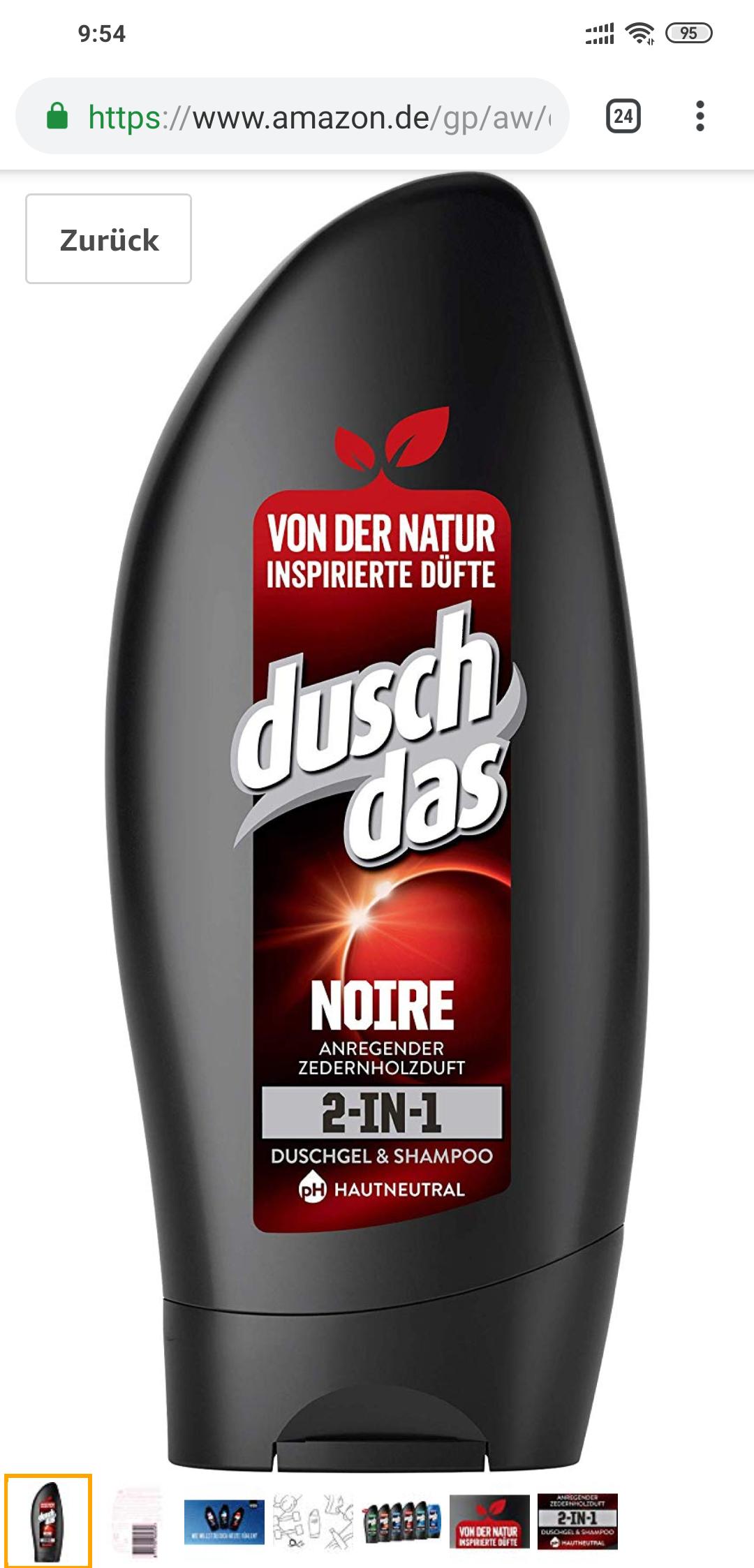 [Prime Plus] Duschdas Noire Duschgel (6x250ml)