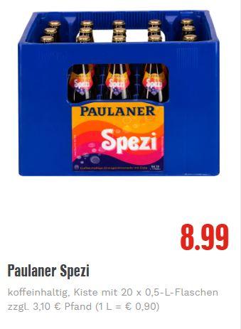 Edeka Südwest - Paulaner Spezi 20 x 0,5l Kasten [lokal]