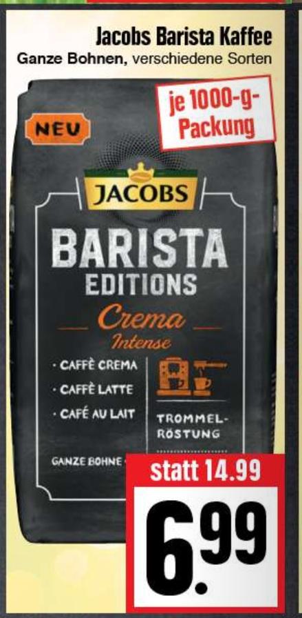Jacobs Kaffeebohnen Barista Editions verschiedene Sorten @ Edeka Hessenring