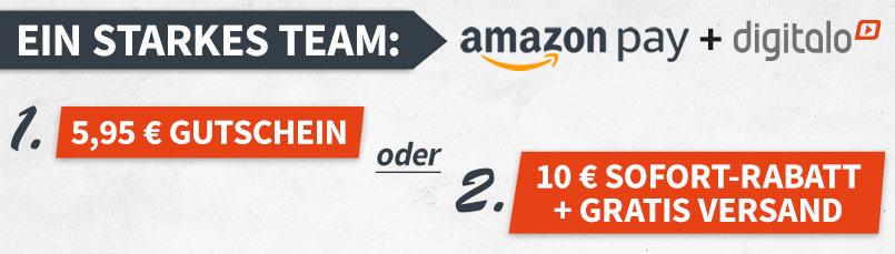 5,95€ auf ges. Sortiment (MBW 29€) oder 10€ + VSK-frei auf Aktionsartikel mit Amazon Pay