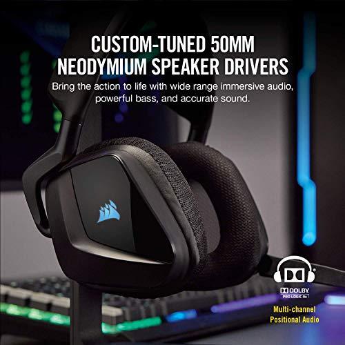 Amazon Prime Day: Corsair Void Pro RGB Wireless Gaming Headset – Dolby 7.1 Surround Sound Kopfhörer für PC, Carbon Headset