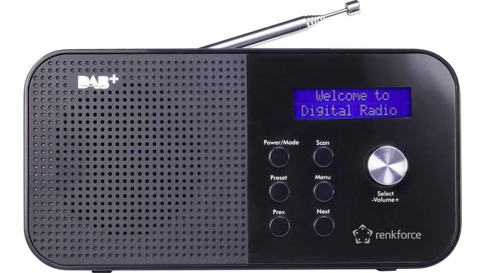 [DIGITALO] Renkforce RF-DAB-MONO1 DAB+ Kofferradio DAB+, UKW  = 14,00 €