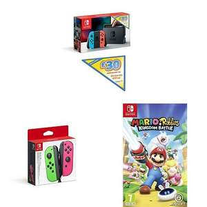 [Amazon UK Prime Day] Nintendo Switch + 30 Pfund Guthaben + Mario Rabbids + Joy-Cons ca. 323€