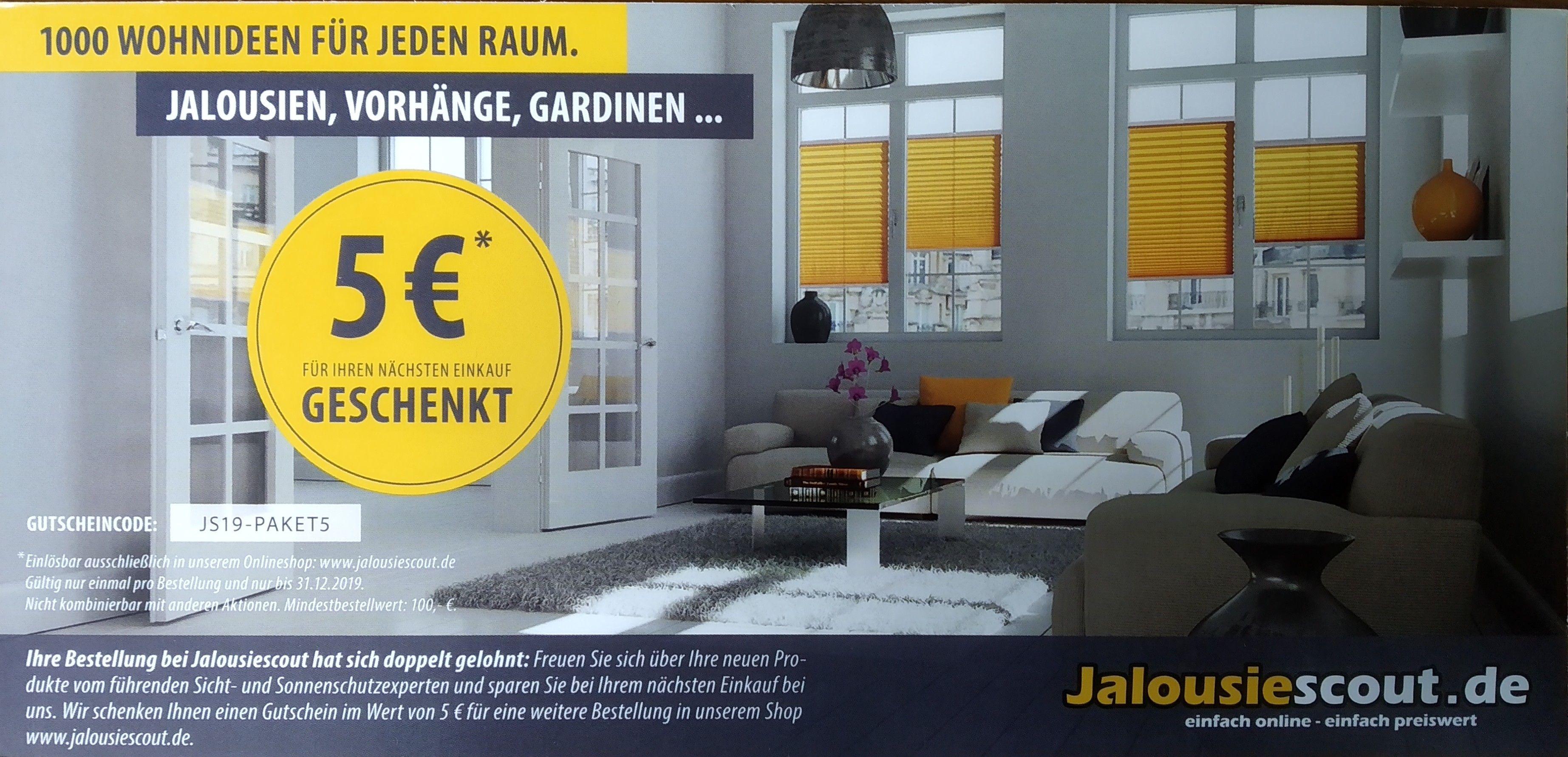 5€ (MBW 100€) Jalousiescout.de