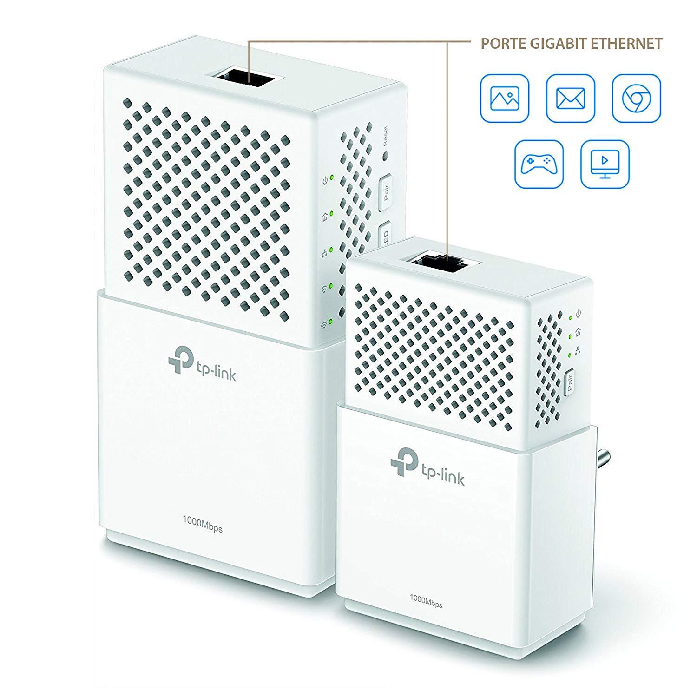 TP-Link AV1000 Gigabit-WLAN Powerline Extender Kit (TL-WPA7510 KIT)