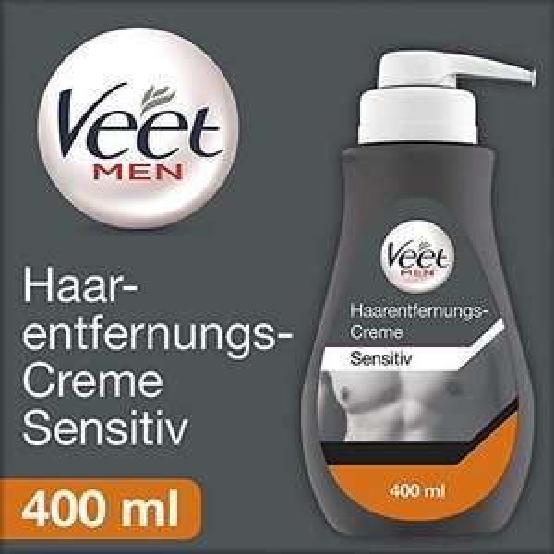 Angebot des Tages / Amazon Prime Day: Veet Men Haarentfernungscreme Sensitive (400ml)
