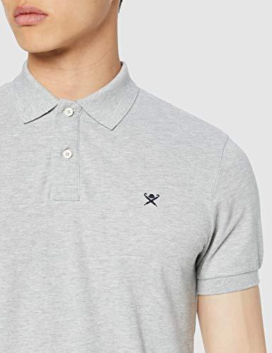 Hackett London Herren Slim Fit Poloshirt [Amazon Prime] [Grau, Größe M, andere Größen ähnlich]
