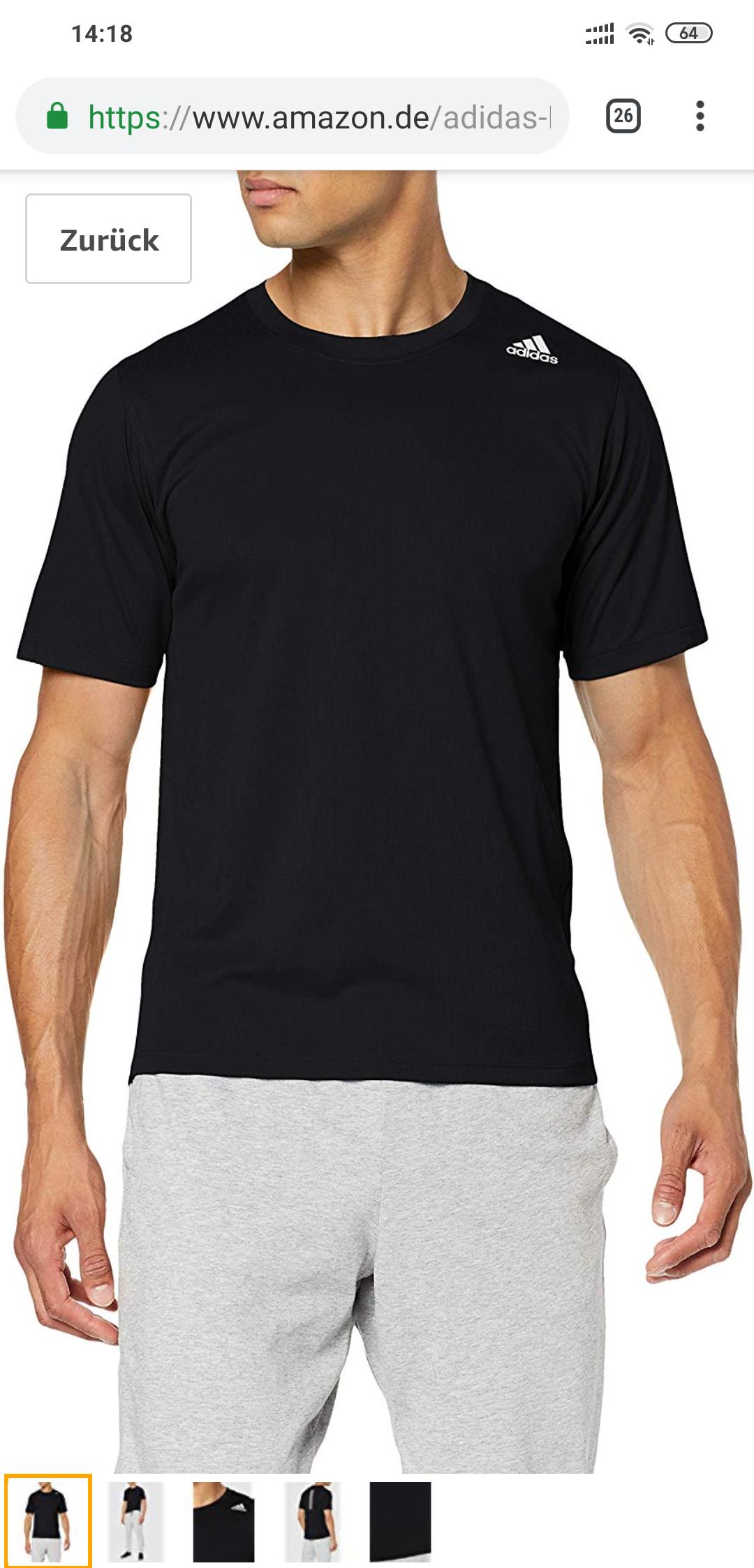 [Prime Day] Adidas T-shirt S-XXL (schwarz/grau)