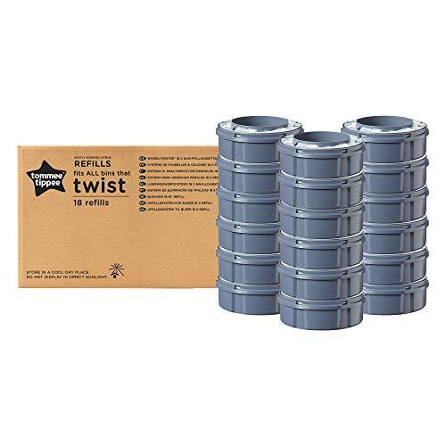[Prime] Tommee Tippee Nachfüllkassetten Windelentsorgungssystem, für Sangenic Tec und Twist&Click Windeleimer