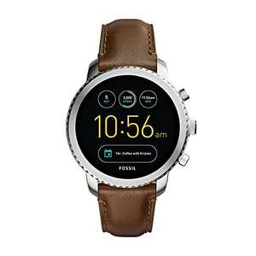(Prime Day) Fossil Smartwatch Q Explorist Leder