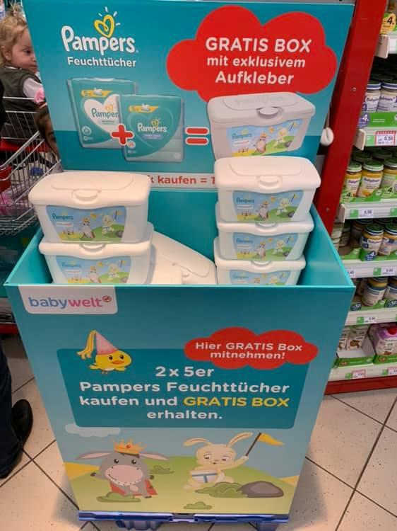 [Rossmann] Feuchttücher von Pampers im Angebot plus kostenlose Box zum Mitnehmen