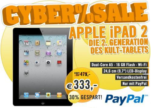 Apple iPad 2 Wifi 16 GB für 333€ @Cyberport