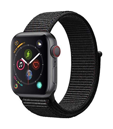 Amazon Prime Day // Apple Watch Series 4 GPS + Cellular, 40mm Aluminiumgehäuse, Space Grau, mit Sport Loop, Schwarz
