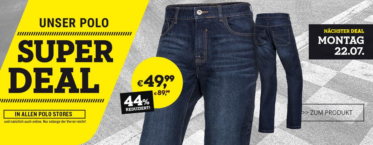 Polo Motorrad: Aramid Jeans (mit Schutzfunktion) 49,99 Euro statt 89,99