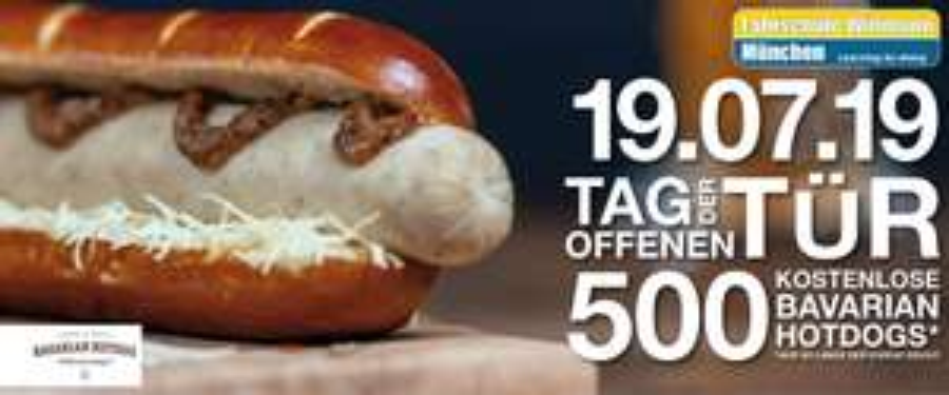[ München ] 500 kostenlose Bavarian Hot Dogs am 19.07. ab 11 Uhr @ Fahrschule Wittmann