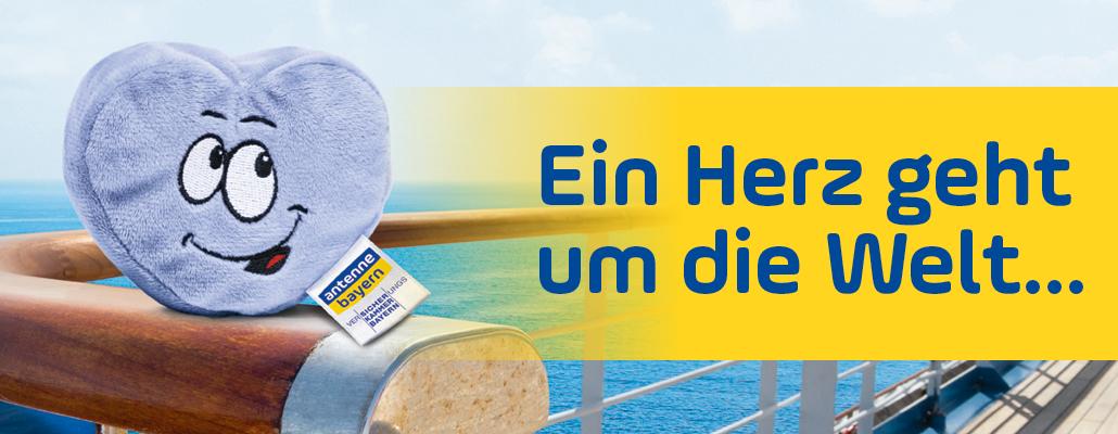 [ Region Bayern ] Liebevoll lächelndes Plüschherz geschenkt