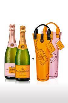 2 Flaschen Veuve Cliquot im Paket
