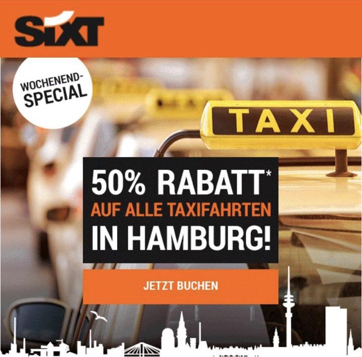50% Rabatt für Taxifahrten mit SixtRide - [Lokal] Hamburg