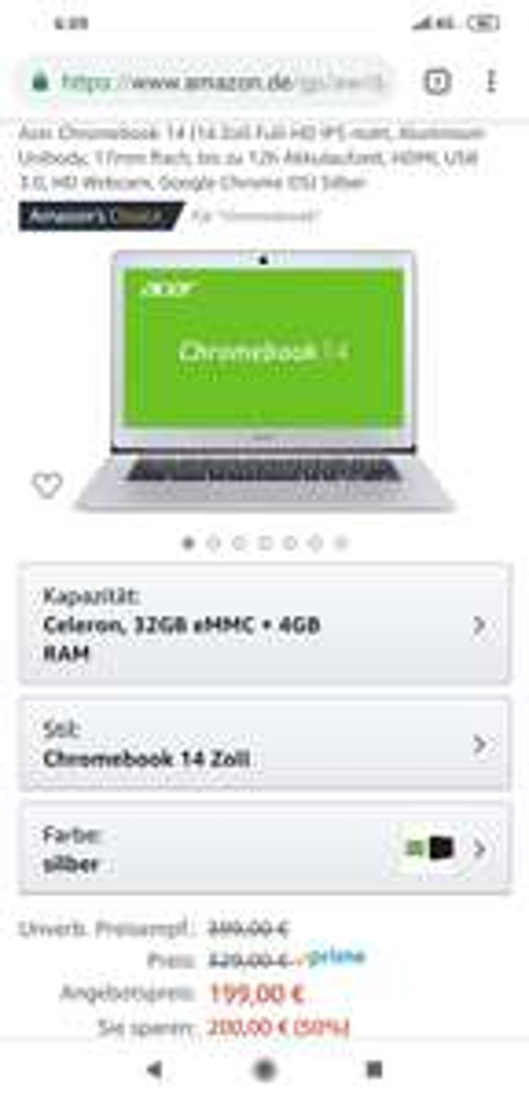 [Prime Day] Acer Chromebook 14