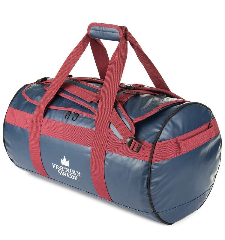 [Prime Day] The  Friendly Swede Wasserfeste Reisetasche - Duffle Bag Rucksack 30L / 60L / 90L - Seesack, Sporttasche zum Bestpreis