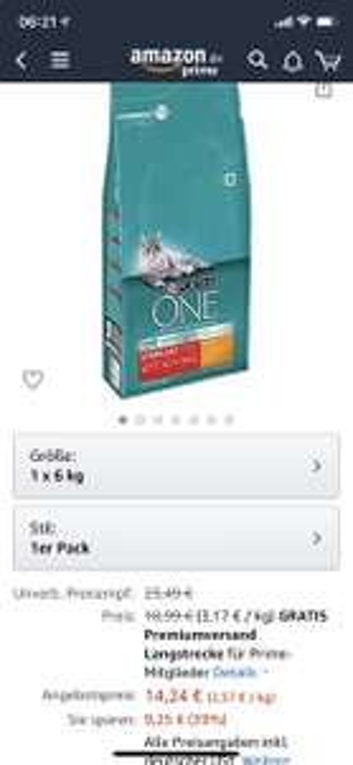 Purina One Sterilcat Katzenfutter [Amazon Prime Day Tagesangebot]