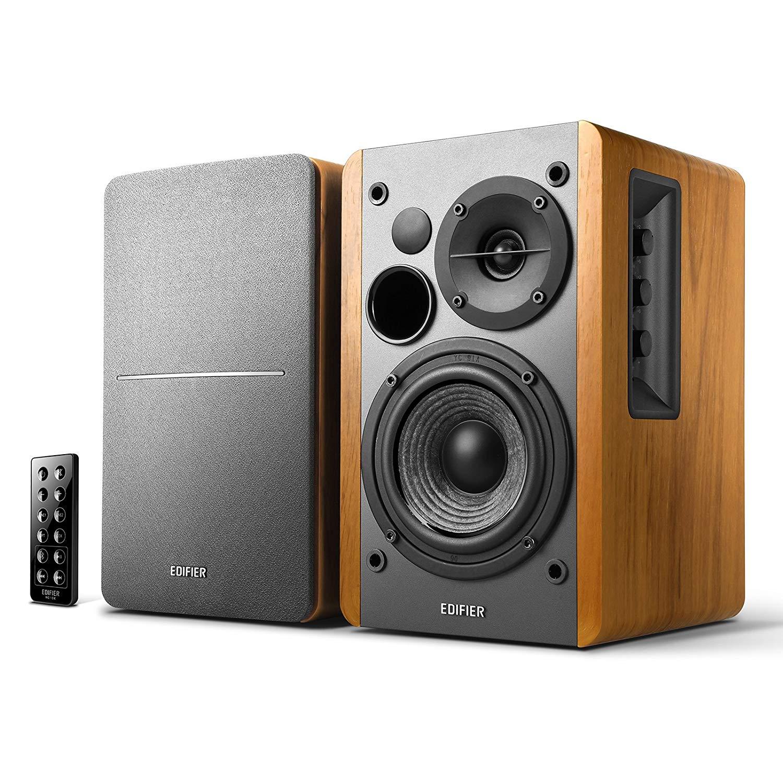 Edifier R1280DB Bluetooth PC Lautsprecher (braun oder schwarz) - 2 x 21 Watt RMS - 75 – 18000 Hz (Alternate & Amazon)