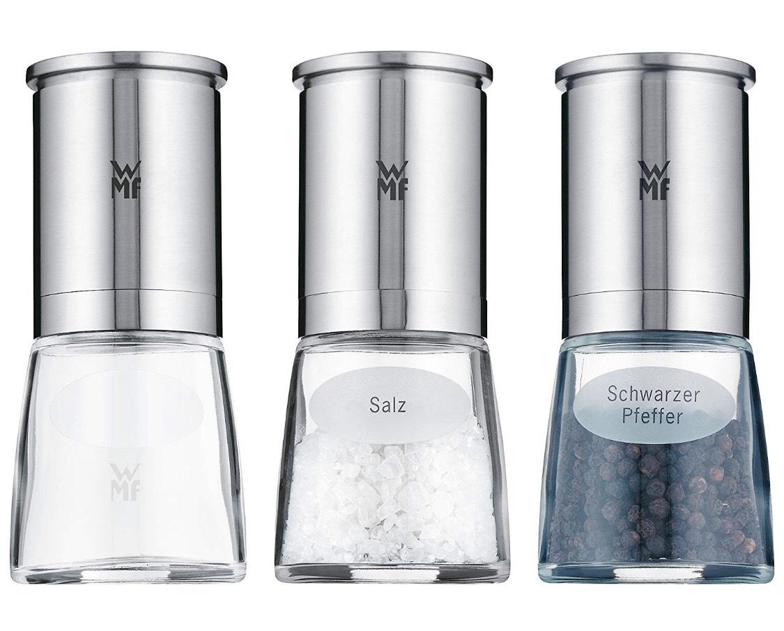 [Amazon Prime] WMF De Luxe Salz- und Pfeffermühle, 3er-Set, teilweise befüllt