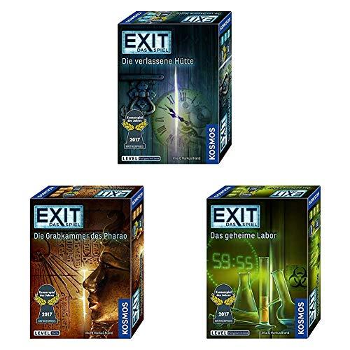 KOSMOS EXIT - Das Spiel 3er Set: Die verlassene Hütte + Das geheime Labor + Die Grabkammer des Pharao für 21,99€ (Amazon Prime Day)