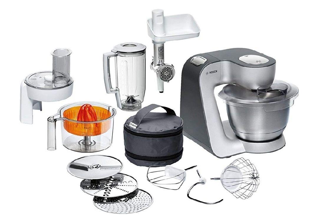 [Amazon Prime] Bosch Styline MUM5 MUM56340 Küchenmaschine für 199,99€ oder WHD 135,78€, 900W, mit Zitruspresse, Fleischwolf, Mixer etc.