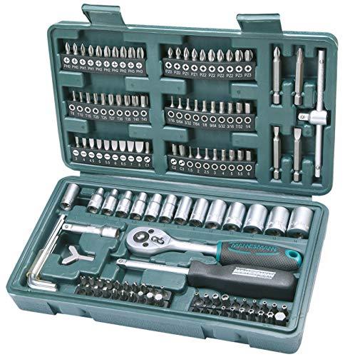 (Amazon Prime Day) Brüder Mannesmann M29166 Steckschlüssel und Bitsatz, 130-tlg